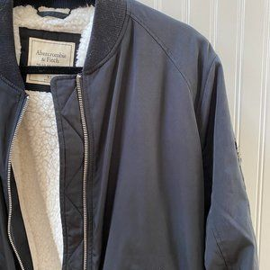 Abercrombie and Fitch Sherpa Lines Bomber Jacket